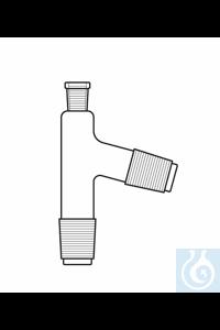 Tête de distillation rodage femelle NS 14, 2 x rodage mâle NS 14 (angle de 75°), verre Duran...