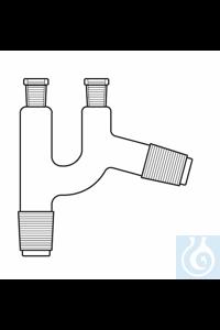 Tête de distillation, Claisen, 2 x rodage femelle NS 14, 1 x rodage mâle NS 14, 1 x rodage mâle...