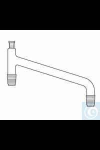 Distilling link L: 350 mm, socket ST 14, 2 x cone ST 29, Duran borosilicate glass 3.3