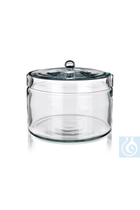 Jar with knobbed glass lid, 200 ml, dim. Ø 200 x H 130 mm, Simax® borosilicate glass, type: 2205
