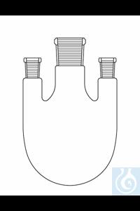 Dreihalskolben 3000 ml, NS 45/NS 29, gerade, Duran Borosilikatglas 3.3