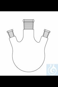 Three neck round bottom flask 1000 ml, 3 x NS 29, angled, Duran borosilicate glass 3.3