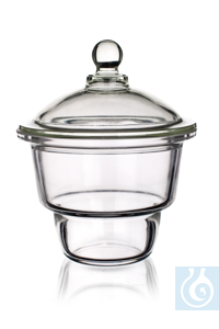 Desiccator with knobbed lid DN 100, flange Ø 153 x int. Ø 94 x H 191 mm, Simax® borosilicate...