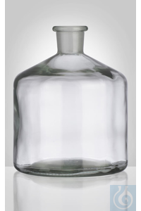 Bottle for burette, clear, 2000 ml, NS 29/32, dim. Ø 160 x H 200 mm, without glass stopper,...