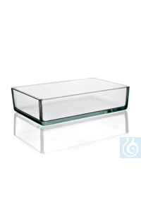 Instrument tray, 250 ml, dim. L 165 x B 120 x H 120 mm, Simax® borosilicate glass, type: 3250