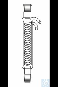 Intensivkühler L: 300 mm, Kern und Hülse NS 29, Wasseranschluss Olive, Duran Borosilikatglas 3.3