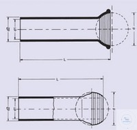 Kugelschliff S 13/2 Kugeln Quarzglas, kapillar innen 2 mm