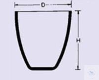 Creuset en quartz translucide opaque, forme haute 10 ml, diamètre 27 x hauteur 32