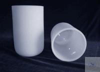 Creuset en verre quartz opaque (blanc) diamètre 235+-5 x hauteur 400 +-5 x épaisseur 8.5 +-2,...