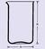 Maatbeker hoge vorm 25 ml, met tuit, helder kwartsglas, vgl. DIN 12331