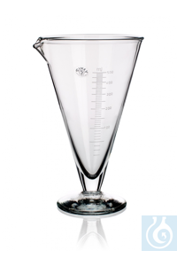 Measure conical, 2000 ml, Ø 1= 192 x Ø 2= 115 x H 330 mm, graduated, with spout and round foot,...