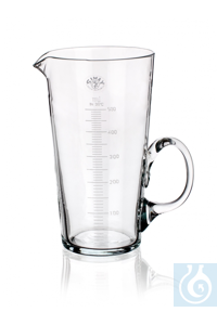 Measure conical, 250 ml, Ø1= 75 x H 140 mm, graduated, with spout and handle, Simax® borosilicate...