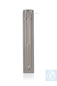 Manometer with scale, 250-0-250 mm, mounted on plate, Simax® borosilicate glass, type: 2442