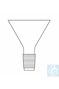 Filling funnel, D: 100 mm, cone NS 14