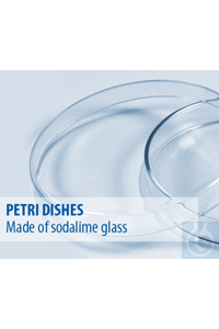 Petri dishes Anumbra, ⌀/height = 60/15, normal glass, dish and lid