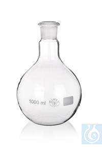 Platbodemkolf, 50 ml, Ø 51 x H 100 mm, NS 19/26, Simax® borosilicaatglas, type: 8003