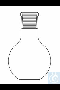 Flat bottom flask 100 ml, ground joint socket ST 29/32, Duran borosilicate glass 3.3