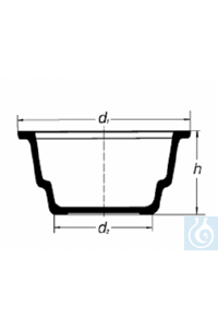Lower part for desiccator, DN 300, flange Ø 392, suitable for type 262, Simax® borosilicate...