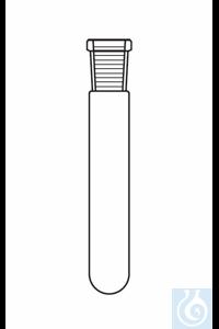 Reagenzglas Hülse NS 14, AD: 16 mm, L: 100 mm, PE-Stopfen