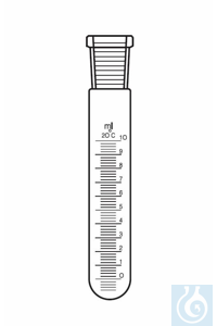 Reagenzglas Hülse NS 14, 25: 0,5 ml, AD: 18, L: 215 mm, PE-Stopfen, graduiert