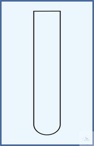Tube à essais, sans rebord, fond rond 16 x 160, verre borosilicate 3.3, emballage 100 pcs