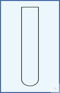 Reagenzglas, gerade Rand, runder Boden 16 x 160, Borosilikatglas 3.3, Verpackung 100 st