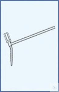 Stopcock with PTFE spindle for burettes, angled type