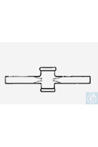 Verbindungshahn, kapillar teflonpoliert ohne Küken, NS 12,5/ 2,5 Kap., Ansätze Ø 8 / ID Ø 2,7 mm,...
