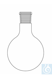Round bottom flask 20.000 ml, ground joint socket ST 45/40, Duran borosilicate glass 3.3