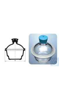 Desiccator with plastic knop, DN 300, flange Ø 392, Simax® borosilicate glass, type: 262/300