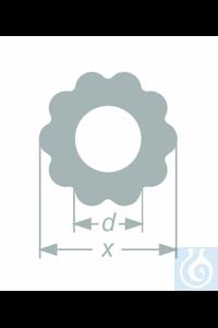 Tube profilé 'dix pétales', ø 24,0+-0,5 x øi 12,0+-0,5 mm, emballage 23,60 kg, 25 pièces, en...