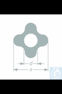 Tube profilé 'quatre pétales', ø 28,0+-1,5 x øi 14,5+-1 mm, emballage 23,60 kg, 25 pièces, en...