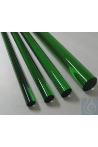 Colored rods in borosilicate glass 3.3 diameter 9 x 1200 L, green