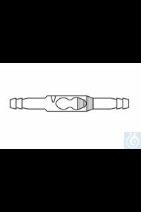 Non-return valve, straight type, standard version, not dismountable