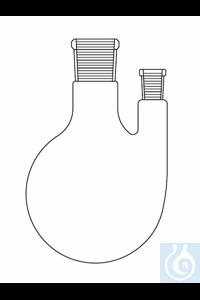 Zweihalskolben 3000 ml, NS 29/NS 14 gerade, Duran Borosilikatglas 3.3