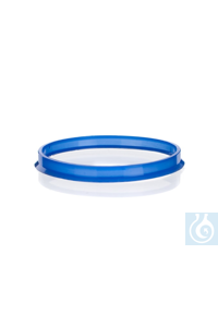 Pouring ring for Simax® laboratory bottle with GL 80, PP blue