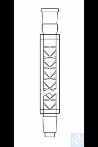 Colonne vigreux ID: 25, L: 600 mm, 2 x NS 29, avec double enveloppe montée