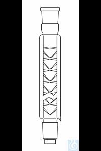 Vigreux column ID: 25, L: 600 mm, 2 x NS 29, fused on glass jacket