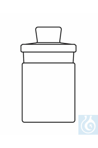 Weighing bottle D: 30 H: 50 mm, tall shape, 20 ml, with interchangeable standard ground stopper...