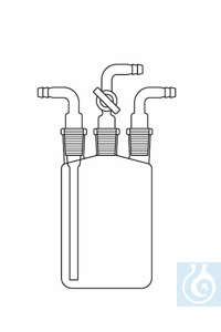 Inlet tube cone NS 29 for Woulff bottle