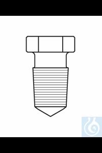 Bouchons hexagonaux, creux, pointu, NS 24/29, verre borosilicate 3.3