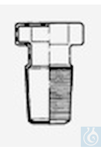 Bouchons hexagonaux, creux, plat, NS 7/16, verre borosilicate 3.3