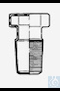 Hexagonal stoppers, flat, NS 45/40, borosilicate glass 3.3
