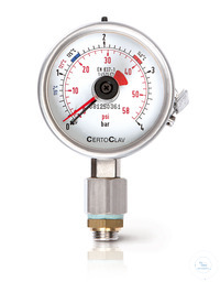 Manometer EN837-1 Cl.1.6 with Manufact. Certificat acc. EN10204 all vertical...