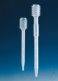 Dropping pipette, PE-LD approx. 5,0 ml, l. 194 mm, graduated Dropping pipette with bellows,...