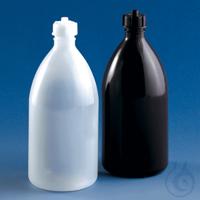 Vorratsflasche, EH, f. Schilling-Bürette 500 ml PE-LD GL 25 m.Schlauchdurchführ. Flasche, PE-LD,...