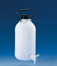 Aspirator bottle, PE-HD, narrow 5 l stopcock/screw cap/carrying handle Aspirator bottle, PE-HD,...