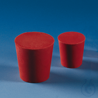 Stopper, red rubber, h. 20 mm upper dia. 12 mm, lower dia. 8 mm Stopper, natural rubber, red,...