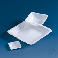 Weighing dish, PS, square shape 250 ml, 140 x 140 x 21 mm Weighing dish, PS, square shape, 250...