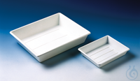 Tray (photogr. tray) PP white stackable 225 x 180 x 45 mm Tray (photogr. tray), PP, white...